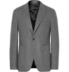 SALLE PRIVÉE Grey Lloyd Slim-Fit Mélange Wool-Flannel Suit Jacket