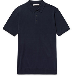 SALLE PRIVÉE Eliel Slim-Fit Knitted Cotton Polo Shirt