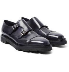 John Lobb - William II Leather Monk-Strap Shoes