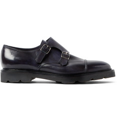 John Lobb William II Leather Monk-Strap Shoes
