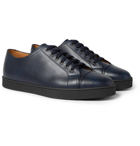Levah Cap-toe Suede And Leather Sneakers - NavyJohn Lobb QYKWD