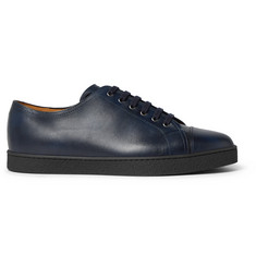 John Lobb Levah Cap-Toe Leather Sneakers
