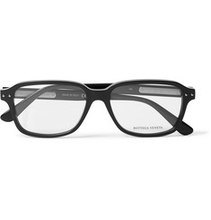 Bottega Veneta Rectangle-Frame Acetate Optical Glasses