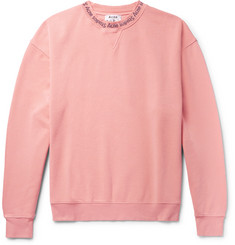 Acne Studios Yana Printed Loopback Cotton-Jersey Sweatshirt
