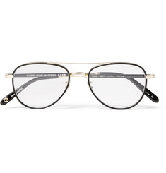 Garrett Leight California Optical - Linnie Aviator-Style Acetate and Gold-Tone Optical Glasses