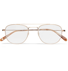 Garrett Leight California Optical Club House Aviator-Style Gold-Tone Optical Glasses