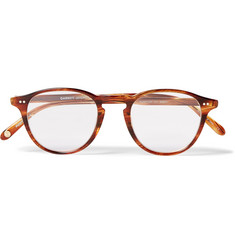 Garrett Leight California Optical Hampton Round-Frame Acetate and Gold-Tone Optical Glasses with Clip-On UV Lenses