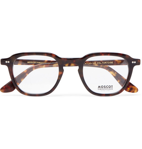 edb52f4cb2 Moscot Billik Round-Frame Tortoiseshell Acetate Optical Glasses In Brown