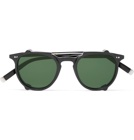 4df9ccfe996 Moscot Jared Round-Frame Acetate Optical Glasses With Clip-On Uv Lenses