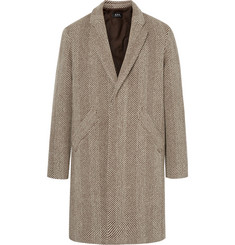 A.P.C. Herringbone Virgin Wool-Blend Tweed Overcoat