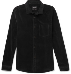 Cotton-velour Shirt  Black
