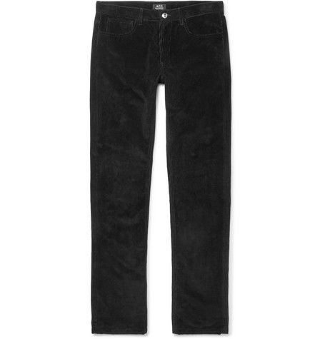 A.P.C. Cotton-Corduroy Trousers In Black