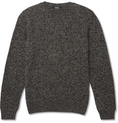 A.P.C. Mélange Wool and Alpaca-Blend Sweater