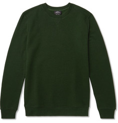 A.P.C. Fleece-Back Cotton and Cashmere-Blend Sweatshirt