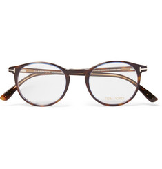 TOM FORD - Round-Frame Tortoiseshell Acetate Optical Glasses