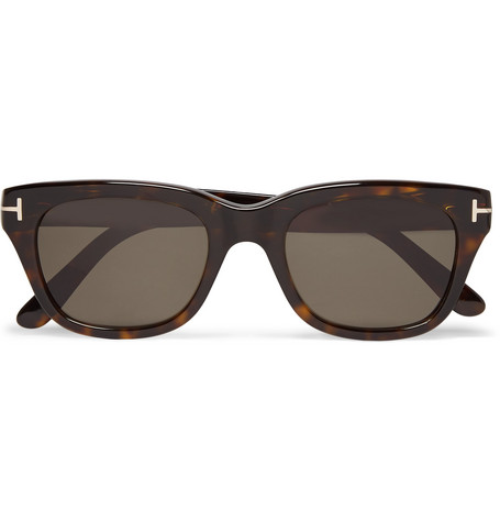 5135f2f0c4 Tom Ford Snowdon Square-Frame Tortoiseshell Acetate Sunglasses ...