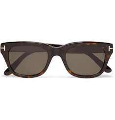 TOM FORD Snowdon Square-Frame Tortoiseshell Acetate Sunglasses
