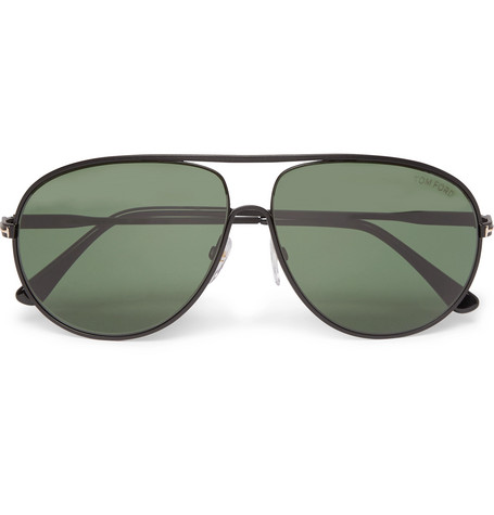 tom ford male tom ford cliff aviatorstyle metal polarised sunglasses black