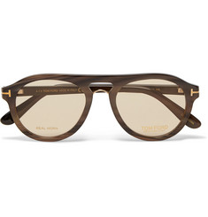 TOM FORD Private Collection Aviator-Style Horn Sunglasses