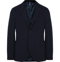 Incotex Midnight-Blue Slim-Fit Wool-Terry Blazer