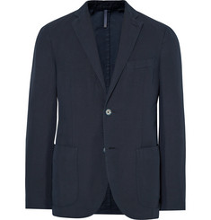 Incotex Midnight-Blue Chinolino Unstructured Slub Linen and Cotton-Blend Blazer