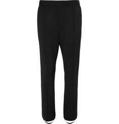 Bottega Veneta Black Slim-Fit Grosgrain-Trimmed Stretch-Twill Tuxedo Trousers