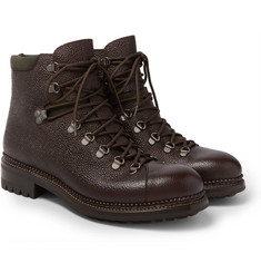 O'Keeffe - Pebble-Grain Leather Hiking Boots