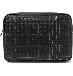 Bottega Veneta Embroidered Intrecciato Leather Pouch
