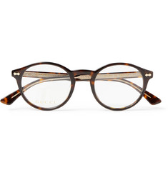 Gucci Round-Frame Tortoiseshell Acetate Optical Glasses
