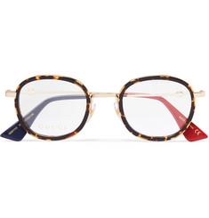 Gucci - Round-Frame Acetate and Gold-Tone Optical Glasses