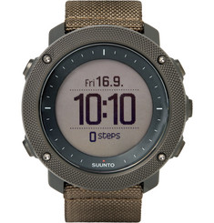 Suunto - Traverse Alpha Foliage Stainless Steel and Woven GPS Watch