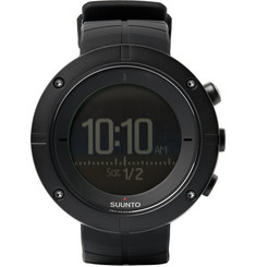 Suunto - Kailash Carbon-Tone Titanium and Rubber GPS Watch
