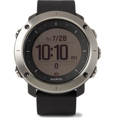 Suunto - Traverse GPS Outdoor Exploration Stainless Steel and Silicone Watch