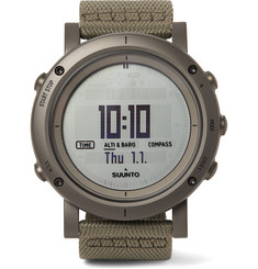Suunto - Essential Stainless Steel and Webbing Digital Watch