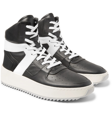 FEAR OF GOD Leather Basketball Sneakers in . hds6my3l