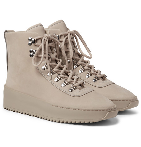 Nubuck High-top Sneakers - Taupe