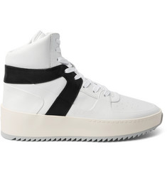 Fear of God Basketball Panelled-Leather High-Top Sneakers
