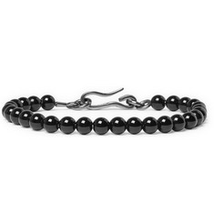 Bottega Veneta Gunmetal-Tone and Onyx Bracelet