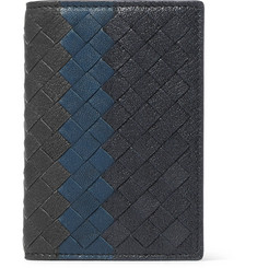 Bottega Veneta Intrecciato Pebble-Grain Leather Bifold Cardholder