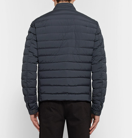 MONCLER Geant Leather-Trimmed Quilted Stretch-Shell Down Jacket