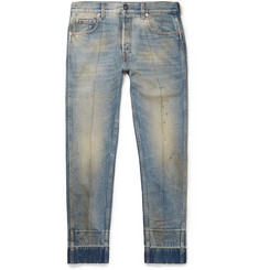 Gucci Slim-Fit Distressed Denim Jeans