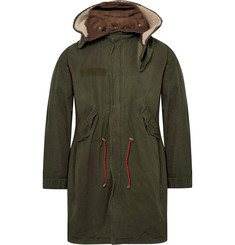 Gucci Oversized Printed Cotton-Canvas Hooded Parka with Detachable Liner