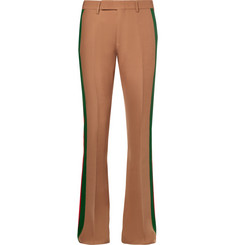 Gucci Wide-Leg Striped Wool and Silk-Blend Crepe Suit Trousers