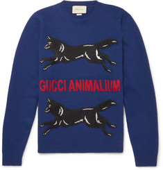 Gucci Slim-Fit Appliquéd Wool Sweater