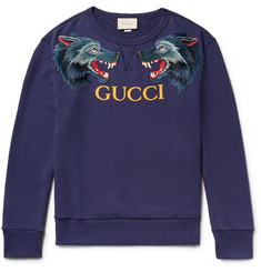 Gucci - Appliquéd Loopback Cotton-Jersey Sweatshirt
