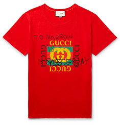 Gucci - Distressed Printed Cotton-Jersey T-Shirt
