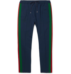 Gucci Tapered Wool and Mohair-Blend Twill Drawstring Trousers