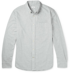 Club Monaco Slim-Fit Button-Down Collar Puppytooth Cotton-Flannel Shirt