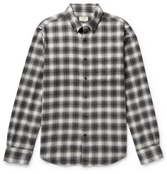 Club Monaco Button-Down Collar Checked Cotton-Flannel Shirt