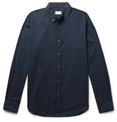 Club Monaco Slim-Fit Button-Down Collar Polka-Dot Cotton Shirt